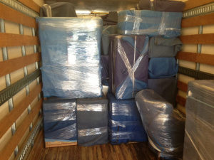 Photo of furniture shrink and blanket wrap