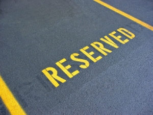 Reserved parking photo